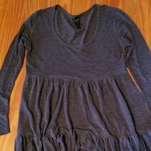 Gray Long Sleeve Dress
